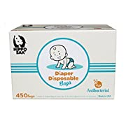 Hippo Sak Antibacterial Diaper Disposal Bags, 450 Count, white