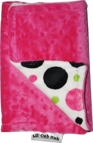 urp Cloth, Hot Pink Circles Print/Hot Pink Dot (Hot Dots Burp Cloths)