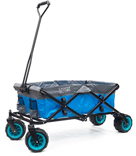 Creative Outdoor Distributors Terrain Folding Wagon, Blue/Grey by Creative Outdoor Distributors