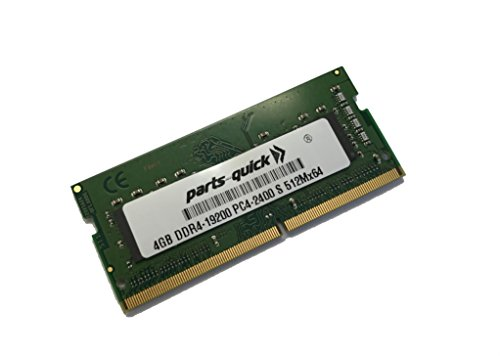 4GB Memory for Fujitsu LIFEBOOK E557 DDR4 2400MHz SODIMM RAM (PARTS-QUICK BRAND)