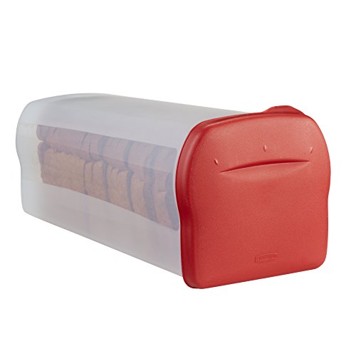 Rubbermaid Specialty Bread Keeper Food Storage Container , Red 1777190