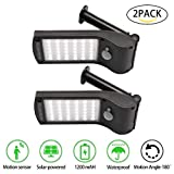 PETOWN Solar Lights Outdoor,36 LED-Wall Solar Sensor Wall Light Outdoor Security,Solar String Lights,Waterproof,Removable, For Garden,Back Yard,Fence,Garage,Garden,Pathway,String (2 PACKS)