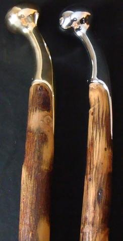 Hickory Hames Cane / Walking Stick Amish Handmade with a Favorite Hame Handle Heavy Duty. The Favorite Hame (Hames) tip Used As a Top Handle for This Cane or Walking Stick