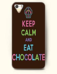 iPhone 4 4S Case OOFIT Phone Hard Case **NEW** Case with Design Keep Calm And Eat Chocolate- Cupcake - Case for Apple iPhone 4/4s