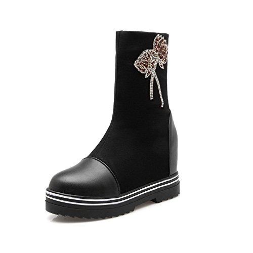 Adeesu Adeesu Mujer Zapatillas Zapatillas Negro Altas 7qTT4vR