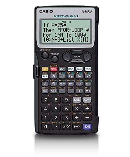 Casio Super Fx Plus Fx-5800p Programmable Scientific Calculator with 4-line Natural Textbook Display Multi Replay Function with 28500 Bytes 128 Built in Formulas 40 Scientific Constants Matrix Calculation Limited Edition
