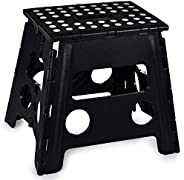 Folding Step Stool, 13 Inch - The Anti-Skid Step Stool is Sturdy to Support Adults and Safe Enough for Kids. O