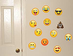 Amazoncom Emoji Wall Decals Removable Reusable Peel Stick - Emoji wall decals