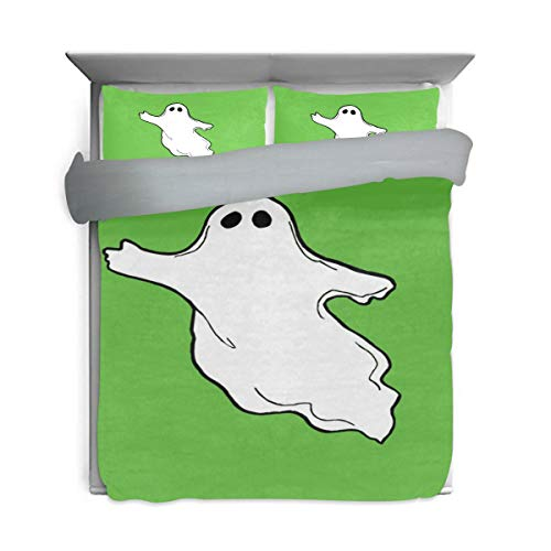 DEYYA Halloween-Photos-Flying-Ghost-Clipart Pattern Printed Duvet Cover Bedding 3