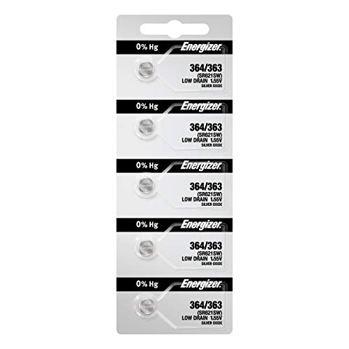 Energizer Watch Batteries 364 / 363 SR621SW Battery New 5 ()