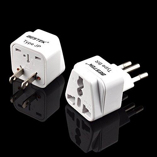 Bestek Grounded Universal Plug Worldwide Plug Travel Adapter Import It All