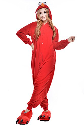 NEWCOSPLAY Halloween Unisex Adult Pajamas Cosplay Costumes (M, Red Street)]()
