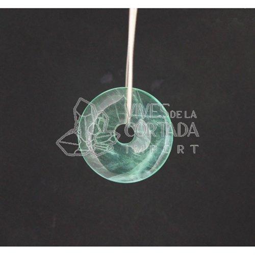 Doughnut Green Fluorite, Small, for Pendant