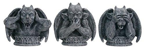 No Evil Gargoyles Set of 3 – Collectible Figurine Statue Sculpture