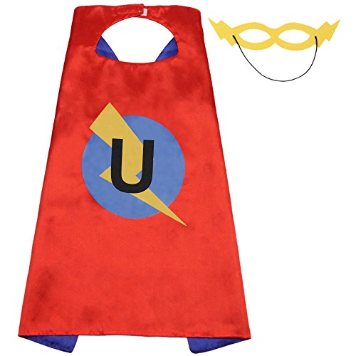 LYNDA SUTTON Personalized Superhero Cape, 1st Birthday Girl Gifts, Girl Birthday Gifts, 4 Year Old Girl Birthday Gifts, 7 Year Old Girl Gifts, 1 Year Old Girl Gifts (Cape-U)