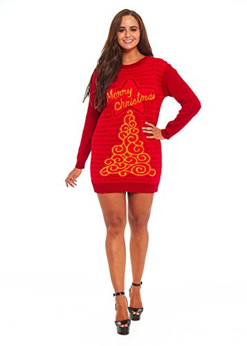 Ladies Christmas Sweater Dress Womens Tunic Xmas Fairisle Top by YLUT Christmas is You]()