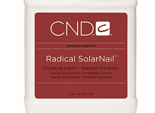 New Radical SolarNail Sculpting Liquid - Superior Tough, resistant, resilient. Radical SolarNail sculpting liquid is for clients prone to cracking and chipping. 8 fl oz (Solarnail Liquid)