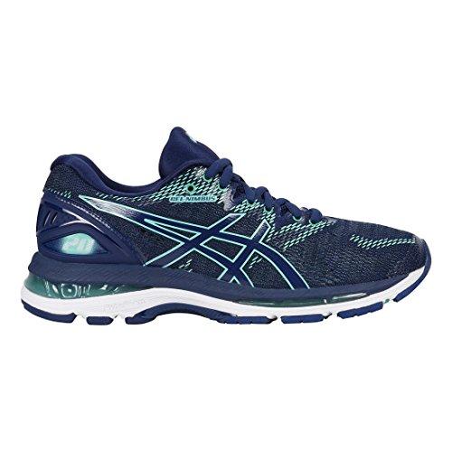 ASICS Women's Gel-Nimbus 20 Running Shoe, Indigo Blue/Indigo Blue/Opal Green, 9.5 D US