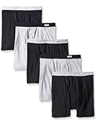 Fruit of the Loom Baby Boys' Boxer Brief - Covered Elastic, 5 pk