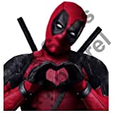 Deadpool Decal Heart Vinyl Sticker