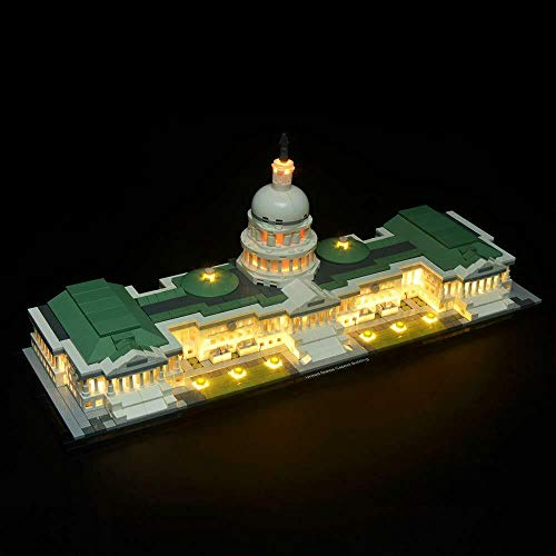 brickled LED Light Kit for Lego 21030 Architecture United States Capitol Building (Lego Set no Included) ()