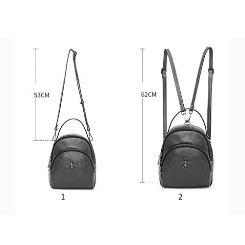 nouveau Noir sac Couleur Sac à Rouge cuir à coréenne en dos en sacs dos femmes mini cuir à main de de mode IwFpRSqw