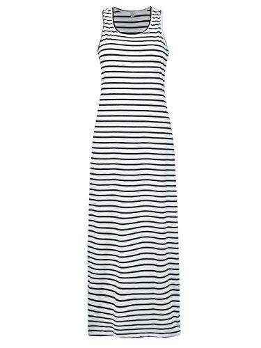 (PERSUN Women's Cotton Plain Sleeveless Casual Long Tank Dress)