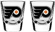 NHL Philadelphia Flyers Shot Glass, 2-Pack