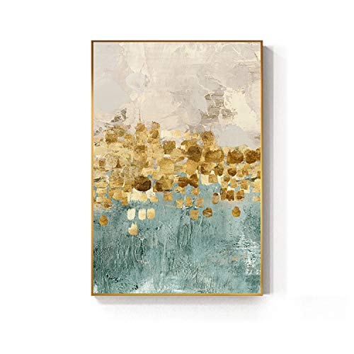 Abstract Golden Coins Star Canvas Painting Blue Print n Poster Cuadros Decoracion Salon Fashion Wall Art Home Decoration,20x30cm no Frame,Lucky Tree