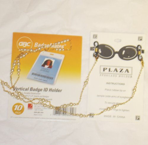 fine-ivory-pearl-on-genuine-gold-plated-eye-glass-holder-or-horizontal-id-badge-holder-medium-chain-
