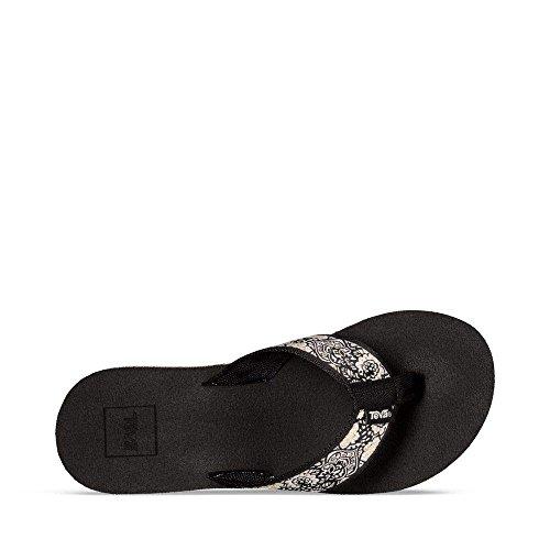 Teva Womens W Mush Mandalyn Wedge 2 Sandal Harmony Black/White