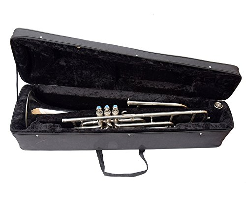 Queen Brass Trombone Bb Pitch Chrome Finish Brass Made W/Case+Mp Silver by Queen Brass