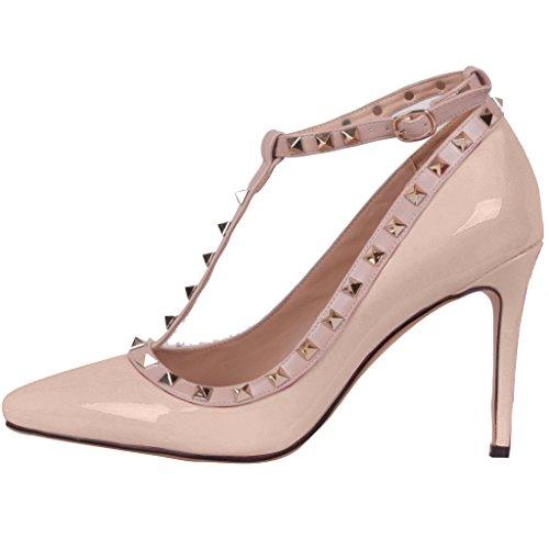 Calo Scarpe Donna Slip-on In Punta 8,5 Cm Stiletto Slip Shoes Rosa