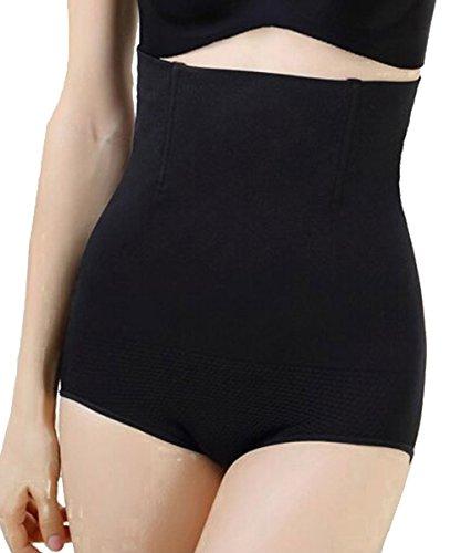 Brief Shaper Panty - FLORATA Womens Shapewear Panties Bodysuit Body Shaper High Waist Tummy Control Seamless Strapless Slimming Panty Briefs
