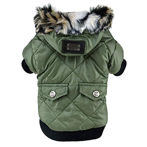 Balai Small Dog Faux Hoodie Thick Jacket Pet Puppy Waterproof Warm Coat Clothes for Small Breed Dog Like Chihuahua L