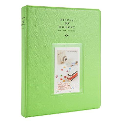 Woodmin 128 Pockets Fujifilm Instax Mini Photo Album,3-inch Photo Book for Fuji Instant Mini 8 8+ Mini 9 70 7s 25 50s 90, Polaroid Z2300, PIC-300P Films, Ticket Album, Card Holder(Deep (Boy Photo Holder)