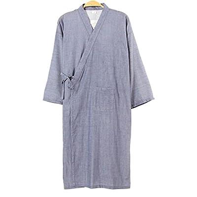 Summer & Autumn Japan Thin Hotel Spa Robe Cotton Bathrobe Sleepwear (40.55'') , f