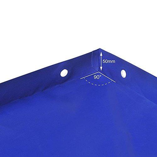 ProPlus Cubierta de Lona Plana con Tiras de Goma, Dimensiones: 2.575 x 1.345 X 50 mm Dimensiones: 2.575x 1.345X 50mm PRO PLUS 340818