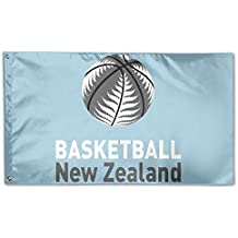 fan products of YUANSHAN Home Garden Flag Basketball New Zealand Polyester Flag Indoor/Outdoor Wall Banners Decorative Flag Garden Flag 3' X 5'