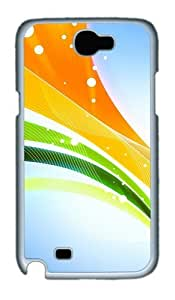 3D Colorful Ribbons Custom Designer Samsung Galaxy Note 2/Note II / N7100 Case Cover - Polycarbonate - White