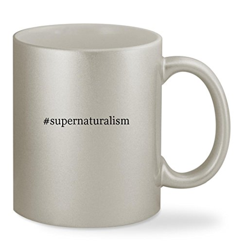 #supernaturalism - 11oz Hashtag Silver Sturdy Ceramic Coffee Cup Mug