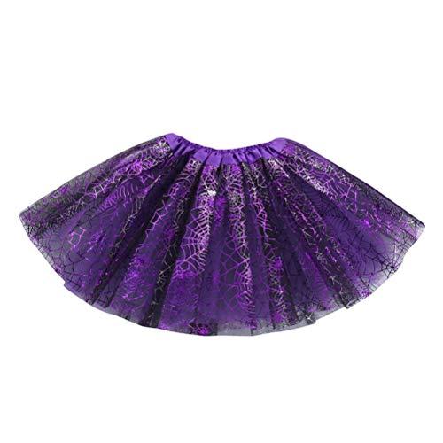 Sameno Baby Girls Kids Halloween Princess Party Butterfly Tutu Ballet Skirts Fancy Party Skirt (A) (D) -