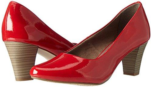 22423 Femme Patent Rouge chili Escarpins Tamaris POxwndd