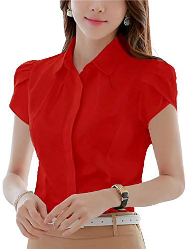 Pleated Button Front Shirt - 9