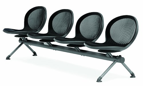 - OFM NB-4-BLACK Net Series Beam Seating with 4 Chairs, Black
