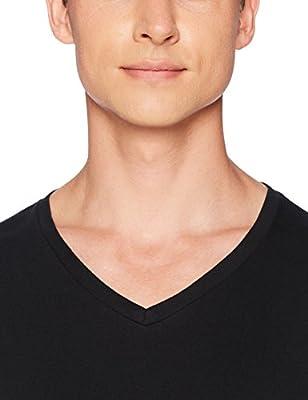 Amazon Essentials Men's 6-Pack V-Neck Undershirts, black, Large