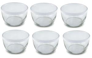 Amazon Com Set Of 6 Small Storage Soup Serving Glass