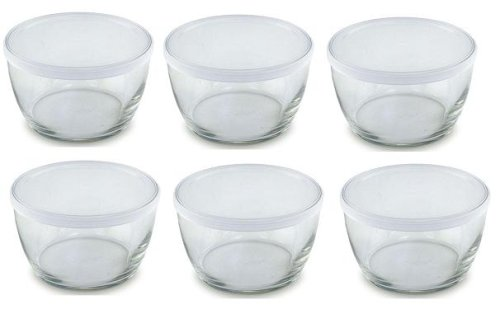Amazoncom Set of 6 Small Storage Soup Serving Glass Bowl