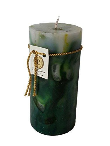 - Scented Pillar Candle - Long Burning Handmade - Balsam Pine (Medium)
