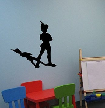 Peter Pan Wall Decal Never Land Sticker Peter Pan Decor Children Decor  Nursery Room Decor Boys